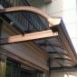 厂家直销 阳光板雨棚 铝合金透明雨棚 耐力板无声雨棚 铝合金雨棚 铝合金阳台雨棚